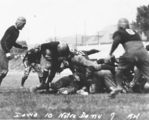 Duke Slater of Iowa - no helmet - 1921 Notre Dame Fighting Irish game