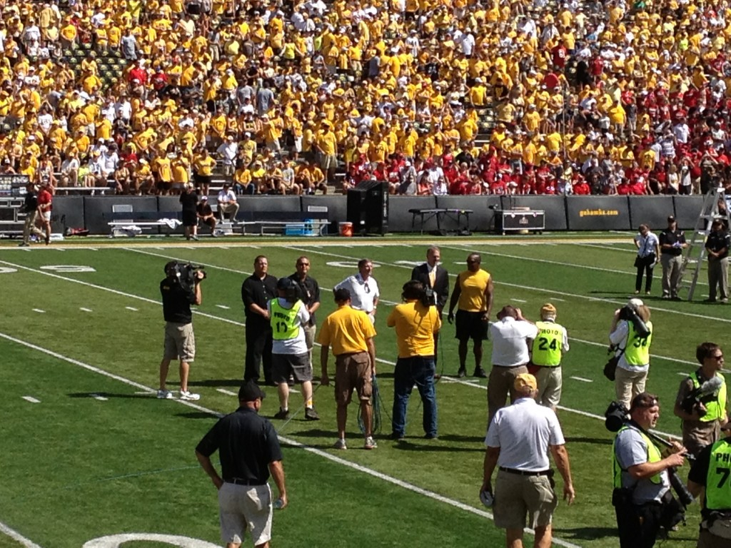 Randy Duncan Chuck Long Larry Station Kinnick Stadium Wall of Honor